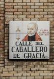 Madrid street sign Stock Photo