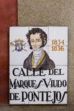 Madrid street sign Stock Image