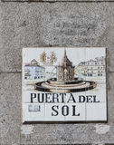 Madrid street sign Royalty Free Stock Photo