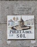 Madrid street sign Royalty Free Stock Photo