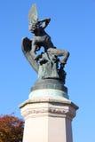 Madrid - stupad ängel Arkivfoton