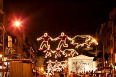 MADRID SUBURB OF SAN SEBASTIAN DE LOS REYES - SEPTEMBER 29: Illu Royalty Free Stock Images