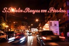 MADRID SUBURB OF SAN SEBASTIAN DE LOS REYES - SEPTEMBER 29: Illu Stock Photo