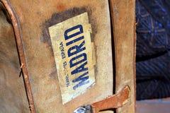 Madrid suitcase Stock Image