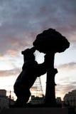 Madrid symbolbjörn Arkivbilder