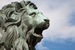 Madrid - tête de lion de Philip IV du mémorial de l'Espagne pour l'opéra Image libre de droits