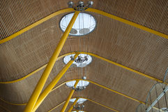 Madrid T4, Barajas Adolfo Suarez Roof Photos stock