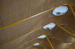 Madrid T4, Barajas Adolfo Suarez Roof Fotos de archivo libres de regalías