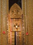 Madrid - tabernacolo moderno del mosaico dal pater Rupnik da Capilla del Santisimo nella cattedra di Almudena Immagine Stock Libera da Diritti
