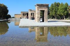 Madrid - Tempel van Debod Stock Foto's