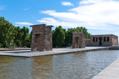 Madrid, The Temple of Debod. The Templo de Debod is an ancient Egyptian temple near Plaza de España, Madrid. It dates from the 4th century BC to honor the gods royalty free stock images