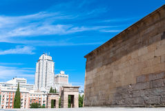 Madrid, The Temple of Debod. The Templo de Debod is an ancient Egyptian temple near Plaza de España, Madrid. It dates from the 4th century BC to honor the gods Royalty Free Stock Image