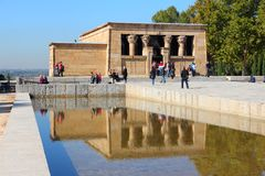 Madrid - Temple of Debod Royalty Free Stock Photo