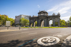 Madrid 18th century Puerta de Alcala Royalty Free Stock Photography