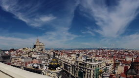 Madrid. Top view. Timelapse Stock Photos
