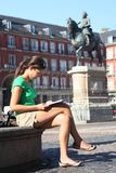Madrid tourist woman Stock Photos