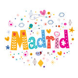 Madrid typography lettering design Royalty Free Stock Photos