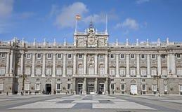 Madrid - Palacio verklig eller kunglig slott Royaltyfria Foton