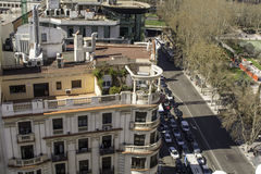 Madrid views from a roof top Royalty Free Stock Photo