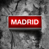 Madrid Vintage light display Stock Photo