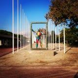 Madrid visitant le pays Image libre de droits