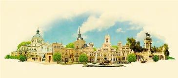 Madrid stock illustration