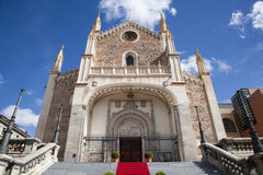 Madrid - gothic church San Jeronimo el Real Royalty Free Stock Images