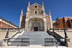 Madrid - West facade of gothic church San Jeronimo el Real. Stock Photo