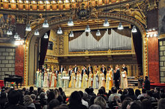 Madrigal National Chamber Choir@Romanian Athenaeum Royalty Free Stock Image