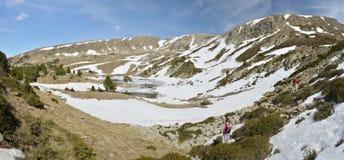 Madriu佩拉菲塔Claror谷的冰河风景 免版税库存图片