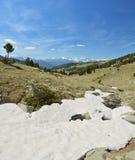 Madriu佩拉菲塔Claror谷的冰河风景 库存照片