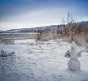 Madrugada con la primera nieve Imagenes de archivo