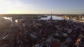 Madrugada de Estocolmo Suecia almacen de metraje de vídeo
