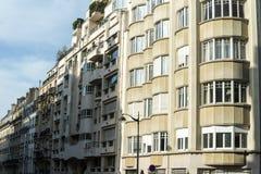 Madrugada de la arquitectura de la calle de París imagenes de archivo