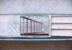 Madrugada 2 de la escalera del andamio fotos de archivo