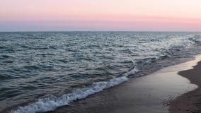 Madrugada del lago Michigan - orilla del lago, Michigan almacen de metraje de vídeo