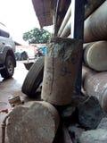 Madrugada en alguna parte en Uganda en un laboratorio del geotech foto de archivo