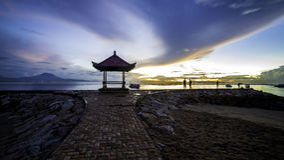 Madrugada en Bali imagen de archivo libre de regalías