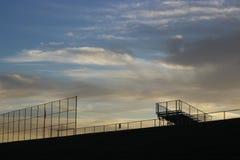 Madrugada en el estadio de béisbol Fotografía de archivo libre de regalías