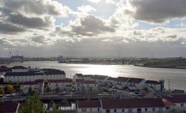 Madrugada en el río Tyne Imagenes de archivo