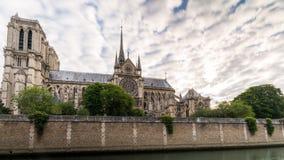 Madrugada en la catedral París de Notre-Dame Imagenes de archivo