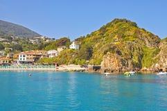 Madrugada en la isla de Elba Fotografía de archivo