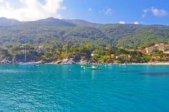 Madrugada en la isla de Elba Fotos de archivo