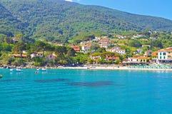 Madrugada en la isla de Elba Foto de archivo libre de regalías