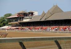 Madrugada en la pista, Travers Stakes, Saratoga, Nueva York, 2015 Imagen de archivo