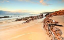 Madrugada en la playa del oso Foto de archivo