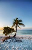 Salida del sol en una playa Fotografía de archivo libre de regalías