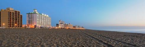 Madrugada en Virginia Beach Imagen de archivo