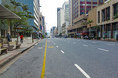 Madrugada reservada en Anton Lembede Street en Durban fotografía de archivo