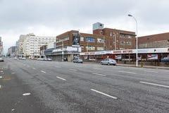 Madrugada reservada en Anton Lembede Street en Durban imagen de archivo